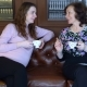 Mother and Pregnant Daughter in a Bright Room Are Sitting on the Couch, Drinking Hot Tea and Talking - VideoHive Item for Sale