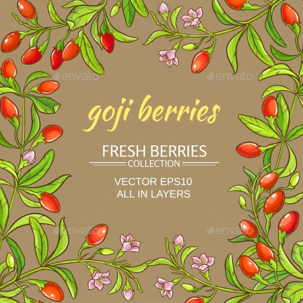 Goji  Vector Frame - Food Objects