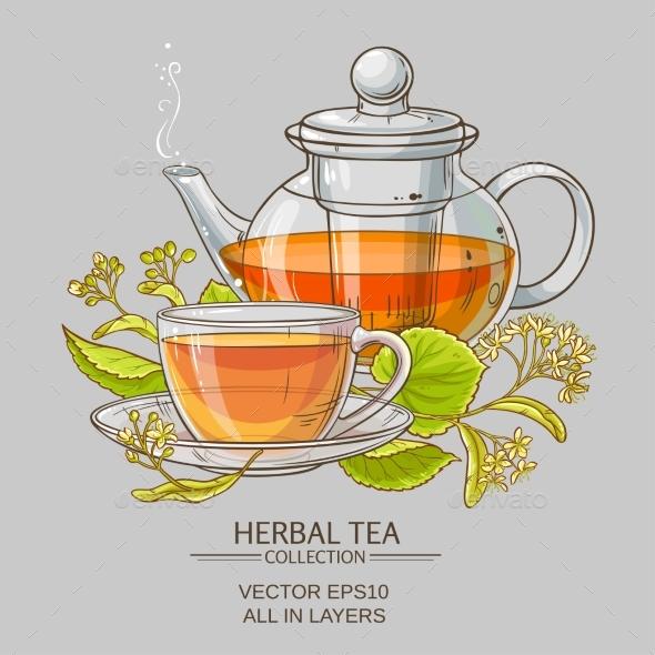 Linden Tea Vector Illustration - Health/Medicine Conceptual