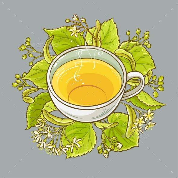 Cup of Linden Tea - Health/Medicine Conceptual