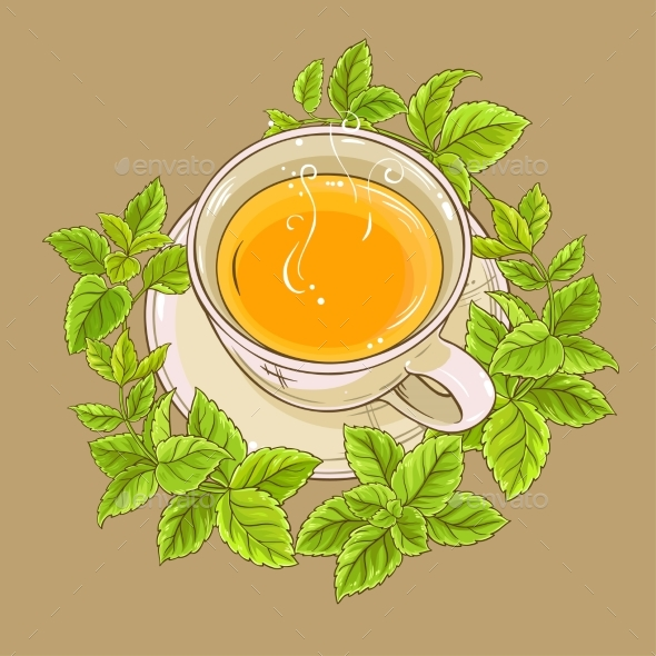 Cup of Melissa Tea - Food Objects