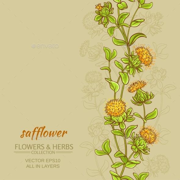Safflower Color Background - Health/Medicine Conceptual