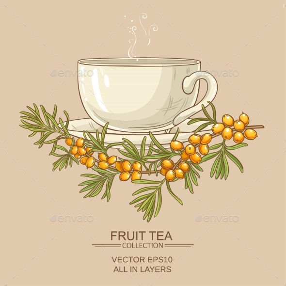 Cup of Buckthorn Tea - Food Objects