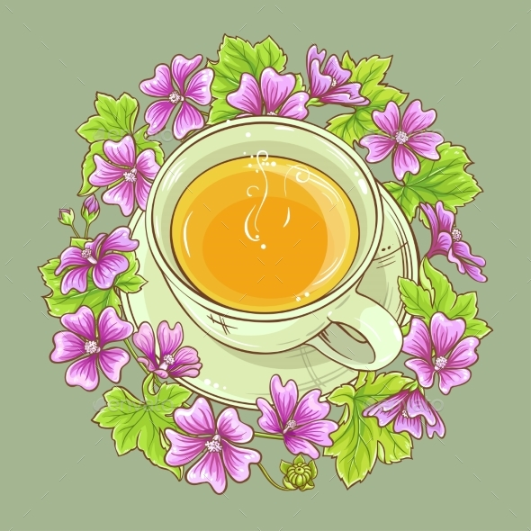 Cup of Malva Tea - Health/Medicine Conceptual