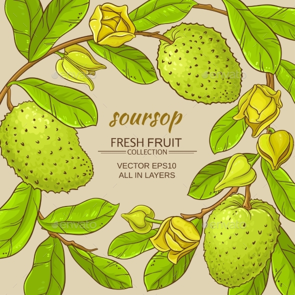 Soursop Vector Frame - Food Objects