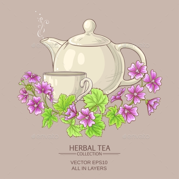 Malva Tea Illustration - Health/Medicine Conceptual