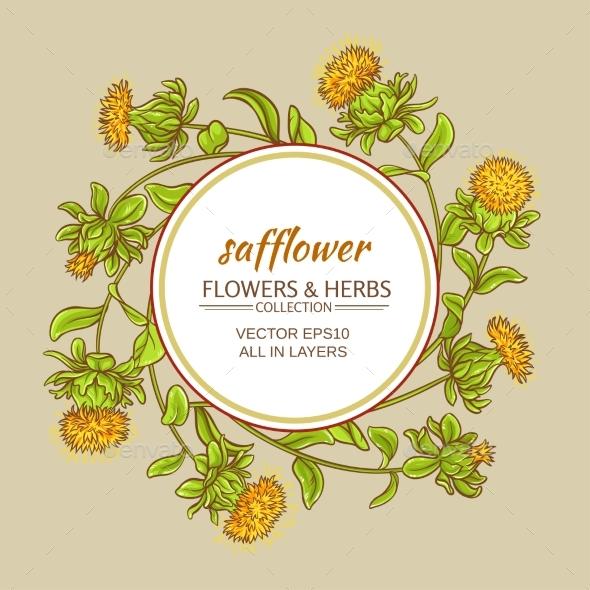 Safflower Vector Frame - Health/Medicine Conceptual