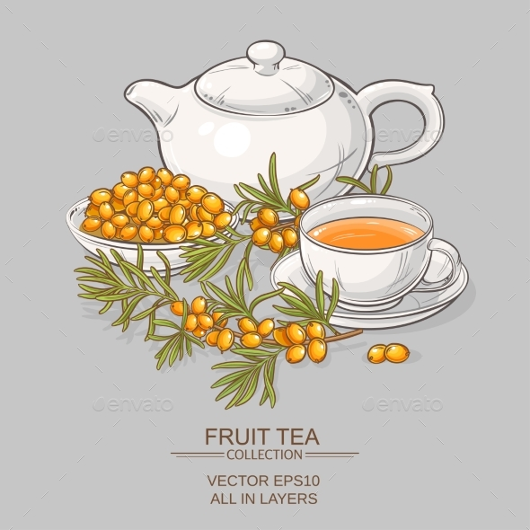 Sea Buckthorn Tea - Food Objects