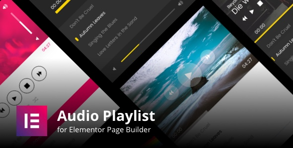 MP3 Audio Player Playlists for Elementor Page Builder - CodeCanyon Item for Sale