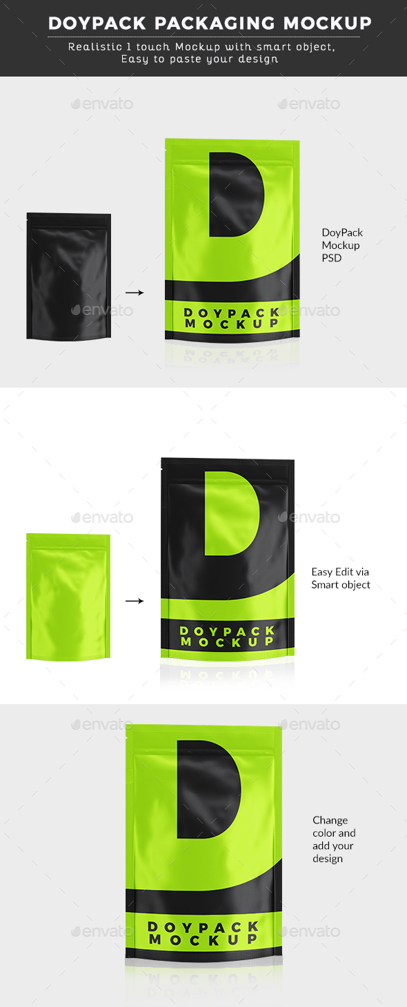DoyPack Packaging Mock up - Miscellaneous Packaging