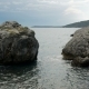 Waves Beating on the Rocks on the Beach in Montenegro - VideoHive Item for Sale