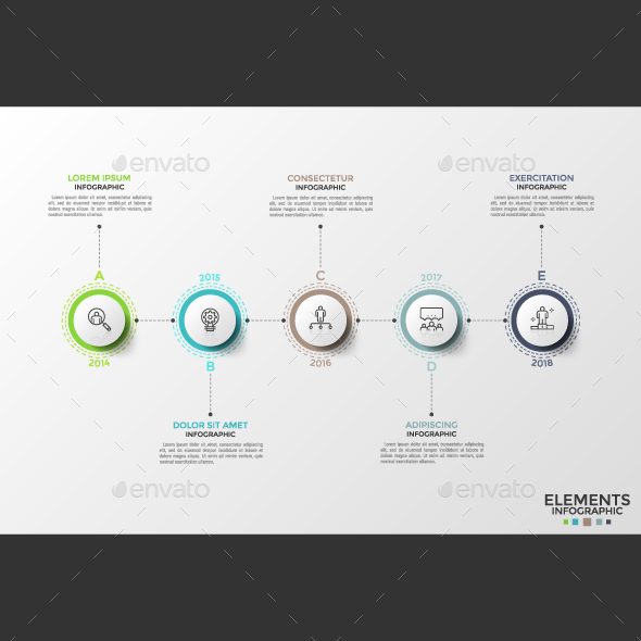Thin Line Infographic Timeline - Infographics