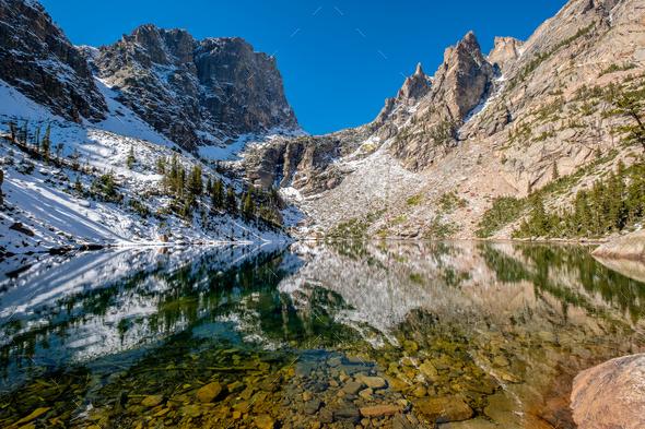 Emerald Lake, Rocky Mountains, Colorado, USA. - Stock Photo - Images