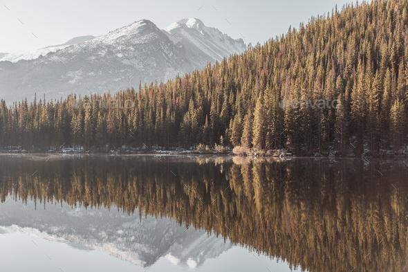 Bear Lake, Rocky Mountains, Colorado, USA. - Stock Photo - Images