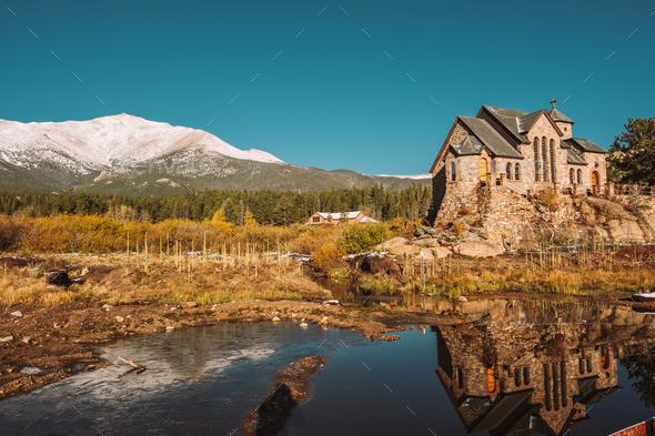Chapel on the Rock near Estes Park in Colorado - Stock Photo - Images