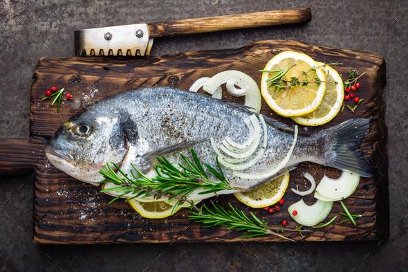 Fresh fish dorado - Stock Photo - Images