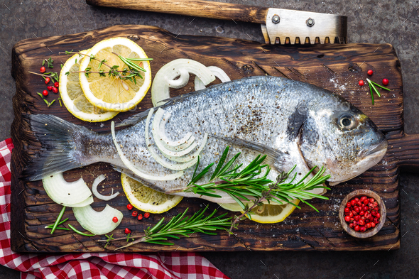 Fresh fish dorado - Stock Photo - Images