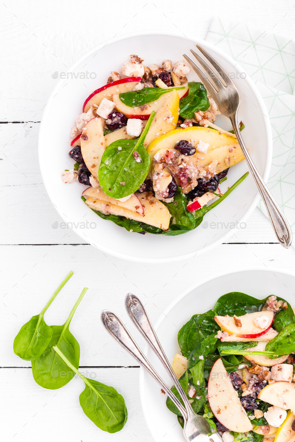 Healthy fruit and berry salad - Stock Photo - Images