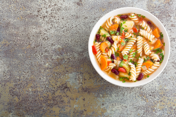 Minestrone soup - Stock Photo - Images