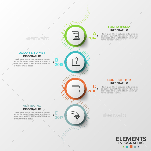 Thin Line Infographic Process - Infographics