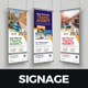Travel Rollup Banner Signage Design v1 - GraphicRiver Item for Sale