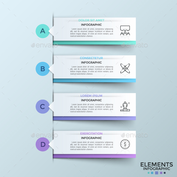 Modern Infographic Ribbons Template - Infographics
