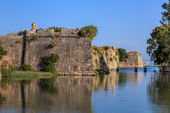 Castle of Agia Maura, Lefkada - Stock Photo - Images
