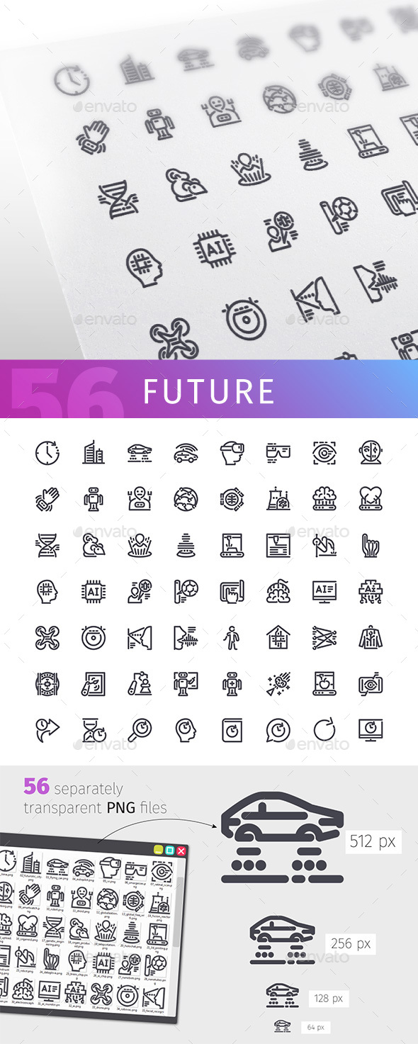 Future Line Icons Set - Technology Icons