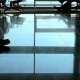 Airport, Waiting Room, on the Tiled Floor Are Reflected Figures of People. The Dark Figures of - VideoHive Item for Sale