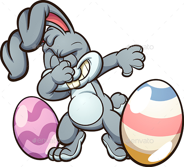 Dabbing Easter Bunny - Animals Characters
