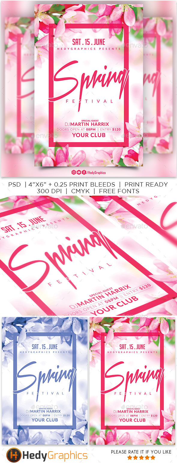 Spring Festival - Flyer Template - Events Flyers