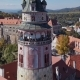 Flight Around Cesky Krumlov Tower - VideoHive Item for Sale