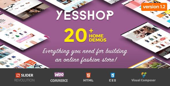 Yesshop - Responsive Multipurpose WordPress WooCommerce Theme - WooCommerce eCommerce