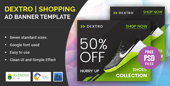Dextro Shoes Shopping | HTML 5 Animated Google Banner - CodeCanyon Item for Sale