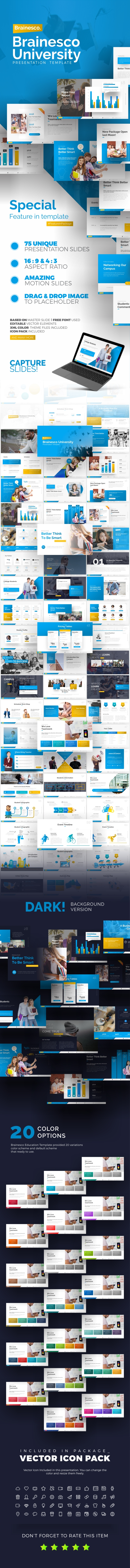 Brainesco Education PowerPoint Presentation Template - PowerPoint Templates Presentation Templates