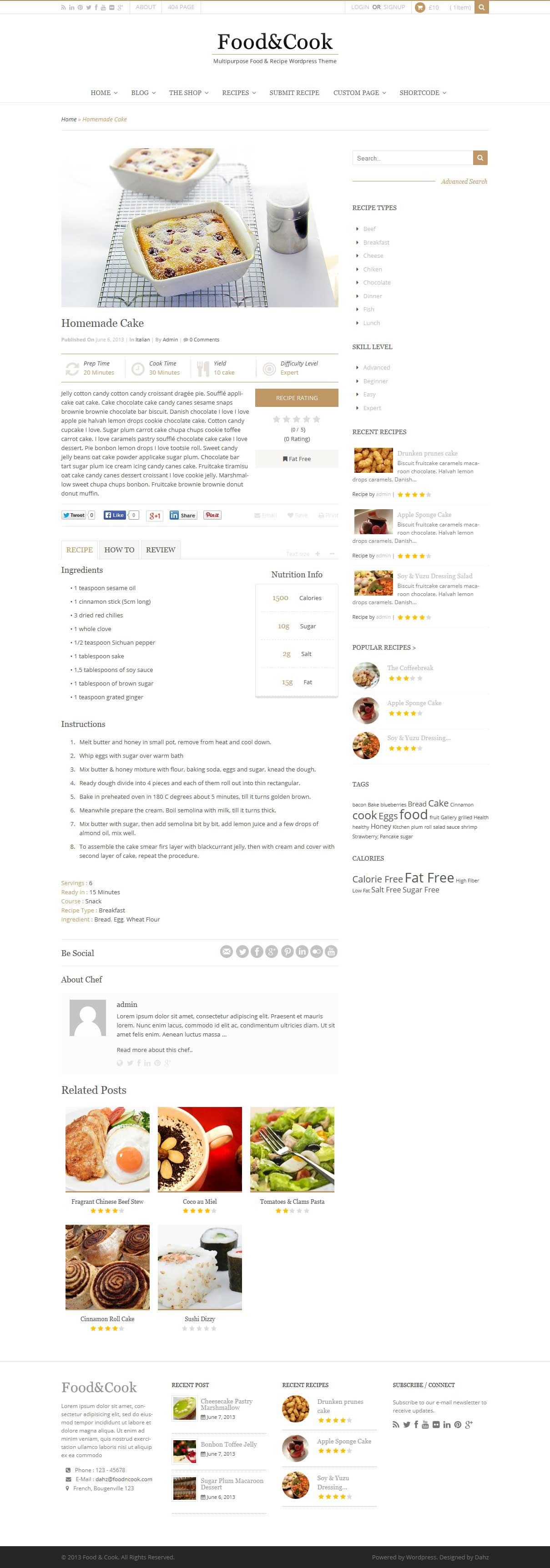Food cook multipurpose food recipe wp theme by dahz themeforest food cook multipurpose food recipe wp theme forumfinder Gallery