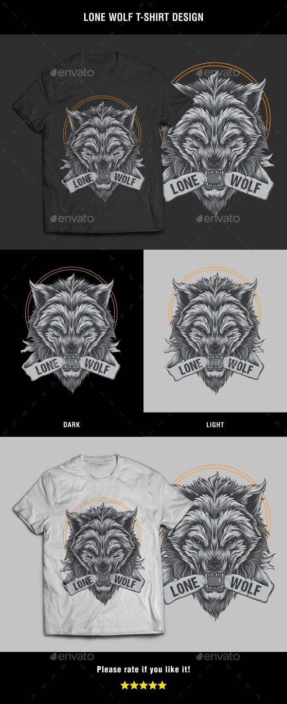 Lone Wolf T-Shirt Design - T-Shirts