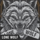 Lone Wolf T-Shirt Design - GraphicRiver Item for Sale