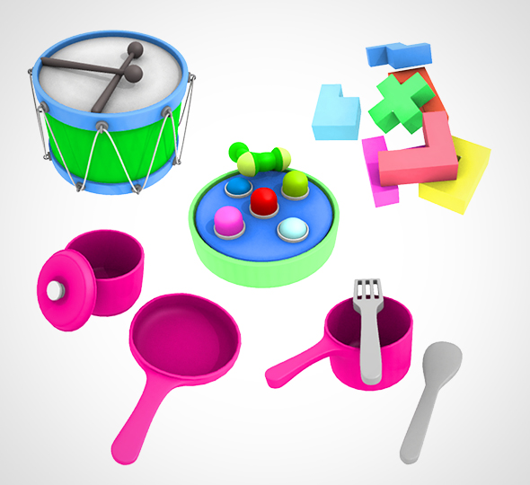 Kids Toy set 002 - 3DOcean Item for Sale