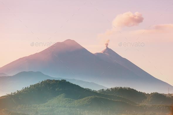 Volcano in Guatemala - Stock Photo - Images