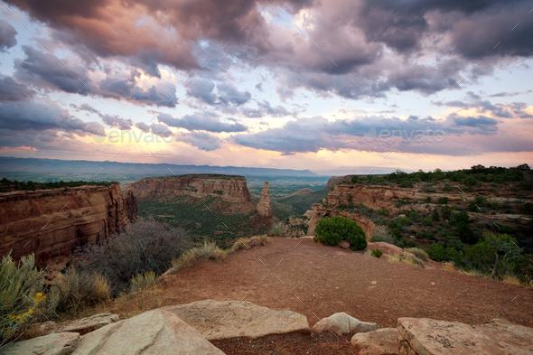 Colorado monument - Stock Photo - Images