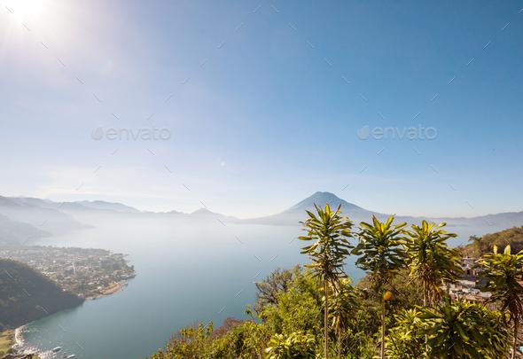 Atitlan lake - Stock Photo - Images