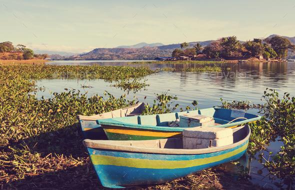 Boat in El Salvador - Stock Photo - Images