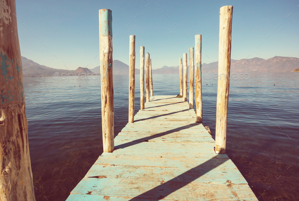 Atitlan lake - Stock Photo - Images