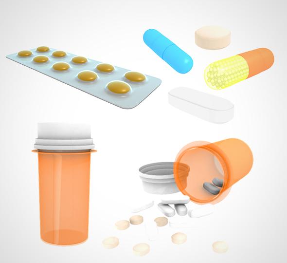 Medical Pill 001 - 3DOcean Item for Sale