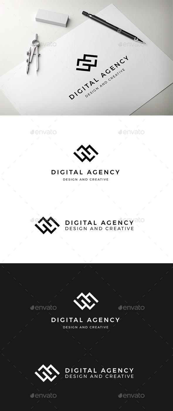 Digital Agency Logo Template - Abstract Logo Templates
