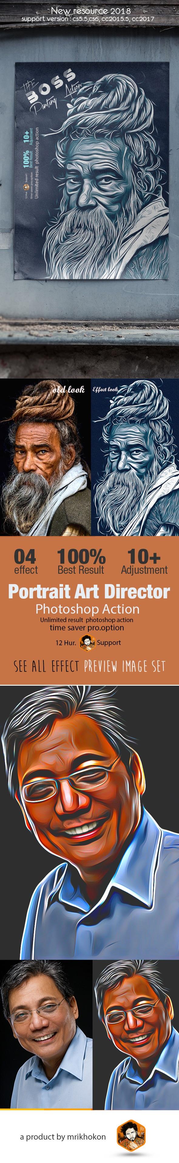 Portrait Art Director - Photo Effects Actions