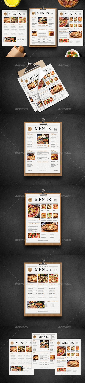 SImple Food Menus - Restaurant Flyers