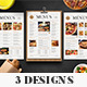 SImple Food Menus - GraphicRiver Item for Sale