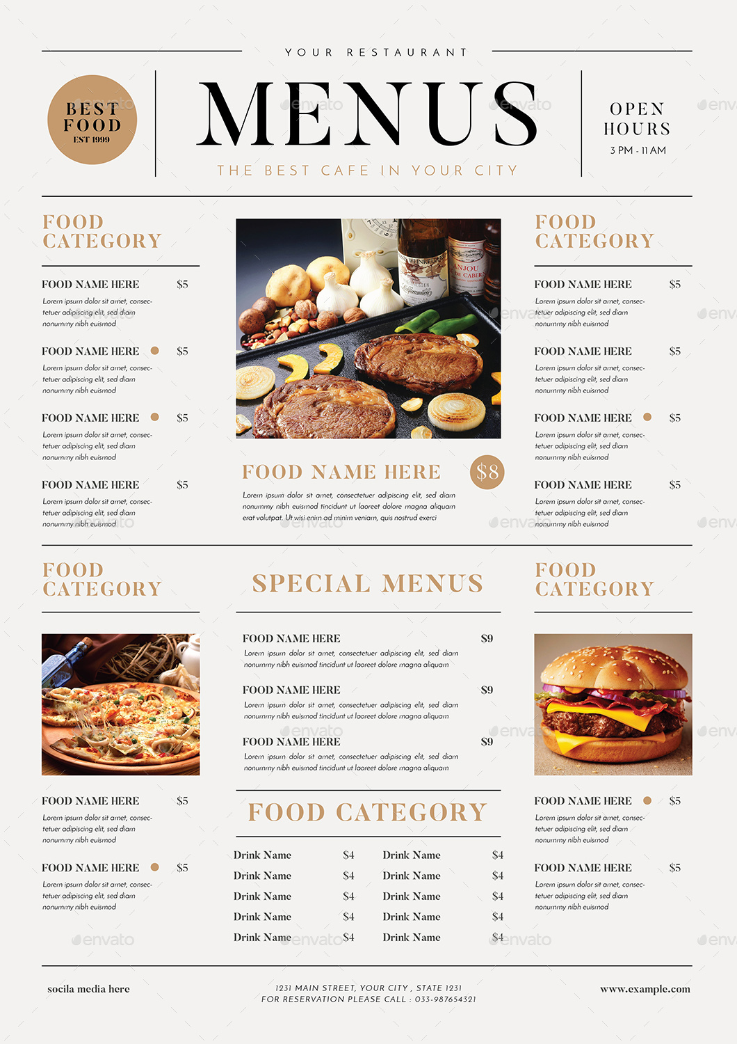 SImple Food Menus